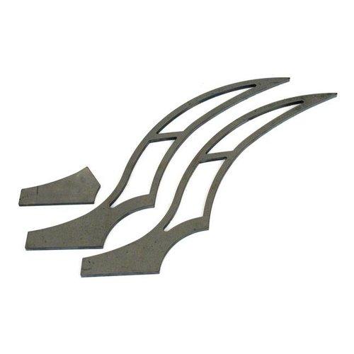 BK Products 280-300MM Long Stiletto Strut Set Achterspatbord