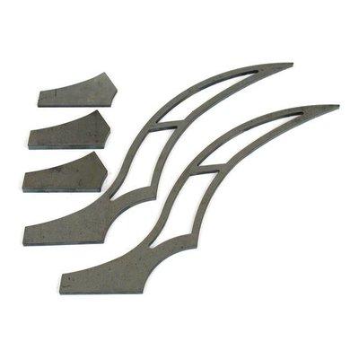 BK Products 320MM Kit d'accessoires pour garde-boue arrière Stiletto - Long