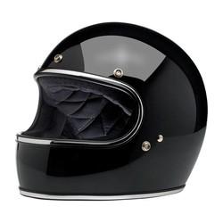 Casque Gringo S, noir brillant et homologué ECE