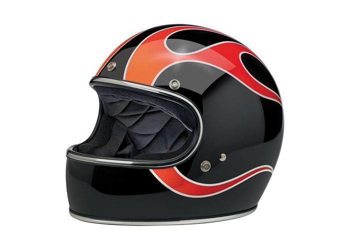 Biltwell Gringo helm  Dice Flames ECE goedgekeurd