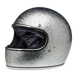 Gringo helm Brite Silver MF ECE goedgekeurd