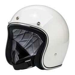 Bonanza 3/4 Open Face Helm Gloss Weiß