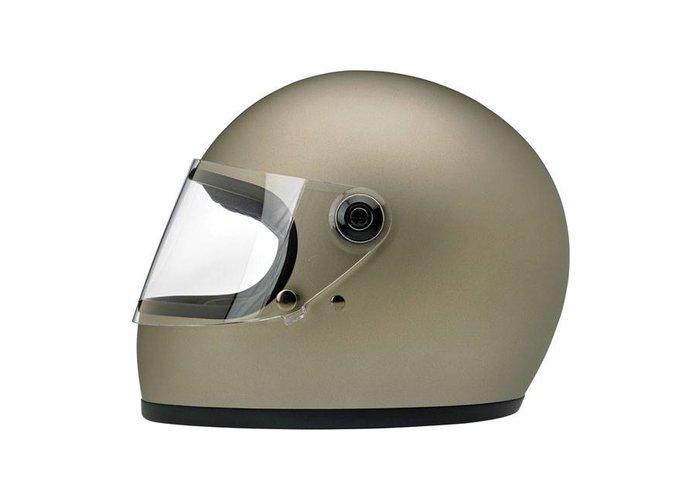Biltwell Gringo S helm Flat Titanium ECE goedgekeurd
