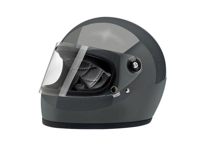 Biltwell Gringo S helm  Gloss Storm Grey ECE goedgekeurd