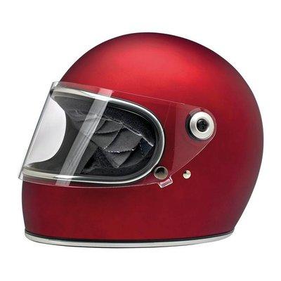 Biltwell Gringo S helm Flat Red ECE goedgekeurd