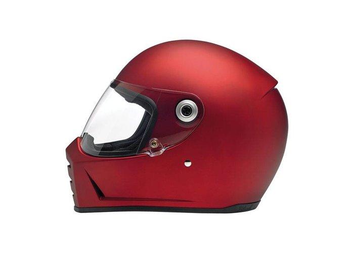 Biltwell Lane Splitter helm Flat Red ECE goedgekeurd