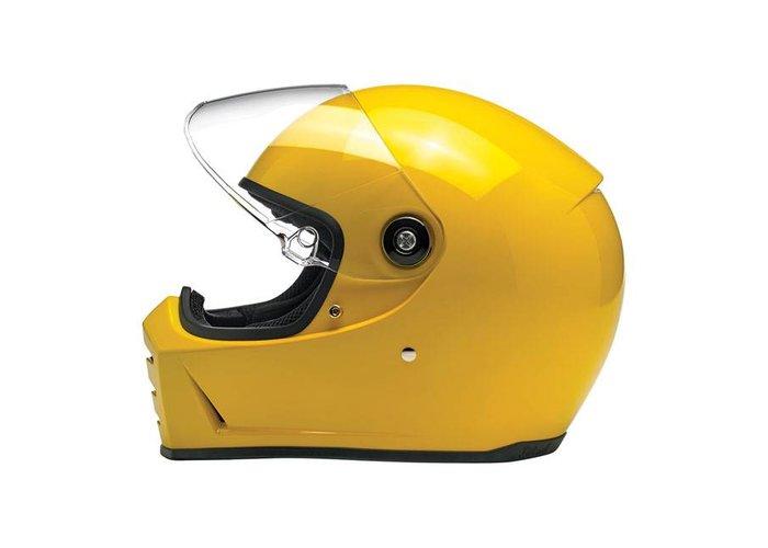 Biltwell Lane Splitter helm Gloss Safe-T Yellow ECE goedgekeurd