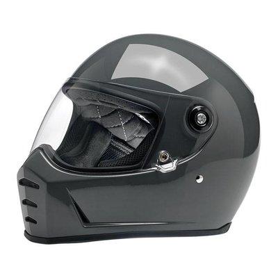 Biltwell Lane Splitter Helmet Gloss Storm Grey ECE Approved
