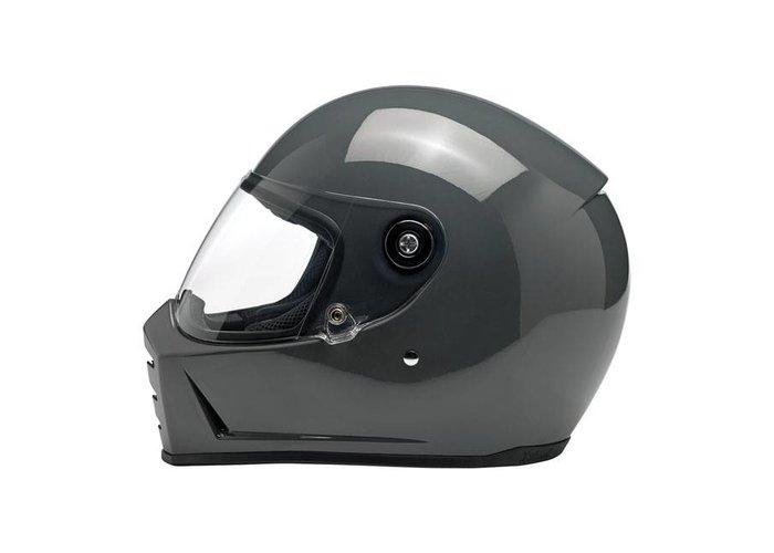 Biltwell Lane Splitter helm Gloss Storm Grey ECE goedgekeurd