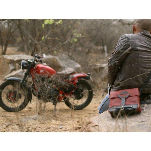 Trip Machine Messenger Bag - Cherry Red