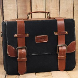 Hybrid Saddlebag - Black + Tan
