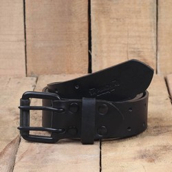 Belt - Black Double Pin