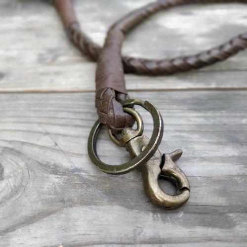 Trip Machine Braided Key Chain - Tobacco