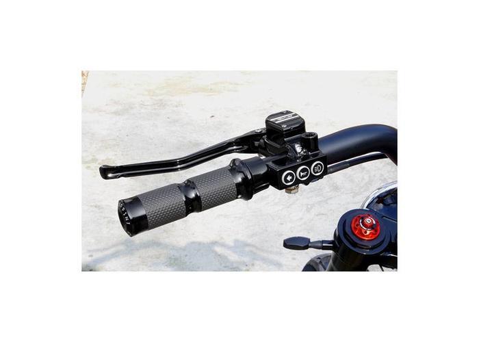 Rebuffini RR90 Handle en Schakelaar Set Hydraulisch Zwart  Dyna /Softail
