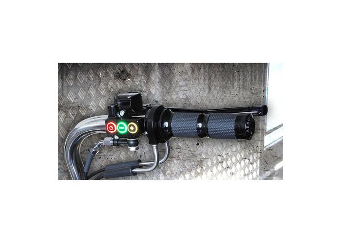 Rebuffini RR90 Handle en Schakelaar Set Hydraulisch Zwart  Dyna /XL