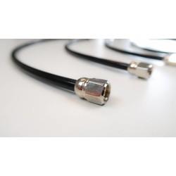 Edelstahl Bremsleitungen schwarz (Länge auswählen)