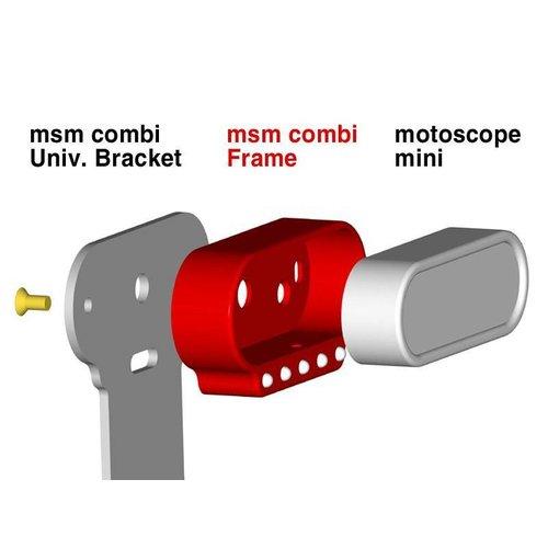 Motogadget MSM Combi Universele Montage Bracket Zwart Geanodiseerd