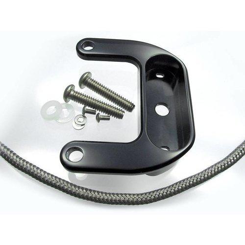 Motogadget BigTwin Rockerbox-beugel zwart geanodiseerd voor HD Evo