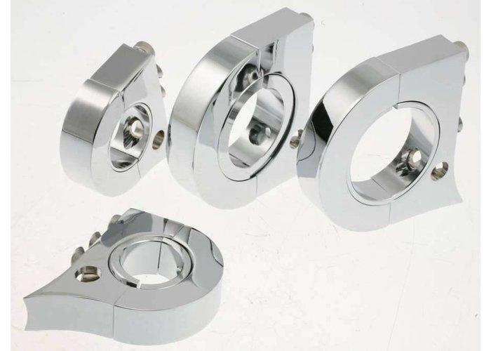 """KOSO Chrome meter case bracket for 1 1/4"""" Handlebar"""