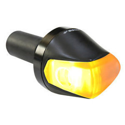 Clignotant LED Knight - Embout de Guidon - noir, lentille fumée