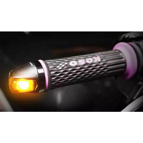 KOSO LED Knipperlicht Knight - Bar End Knipperlicht - Smoke