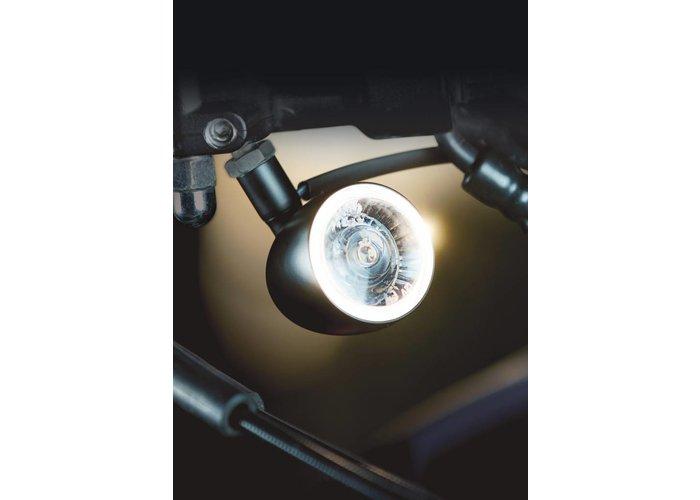 Kellermann Bullet 1000 PL Knipper / markeerlicht witt  mat chroom