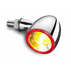 1000DF Bullet LED-Blinker- / Rücklicht  Chrome