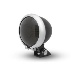 Smoke Taillight LED  type Bates Style 2 Chrome Black