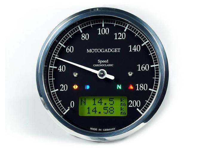 Motogadget Chronoclassic Speedo gepolijst