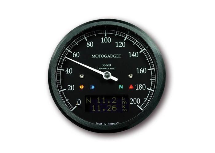 Motogadget Chronoclassic Speedo Black 200 KM/H