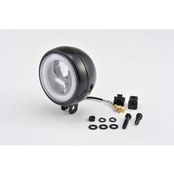 "Onder montage ""Capsule120"" Led-koplamp Zwart  E keur"