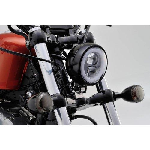 "Daytona Onder montage ""Capsule120"" Led-koplamp Zwart  E keur"