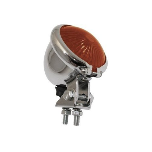 Rood Chrome Achterlicht LED Universeel Chopper type Bates Style
