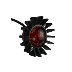 Feu de stop à grandes ailettes - LED - Noir