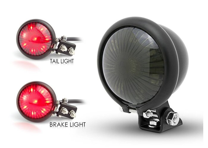 Smoke Achterlicht LED Universeel Cafe Racer type Bates Style 2