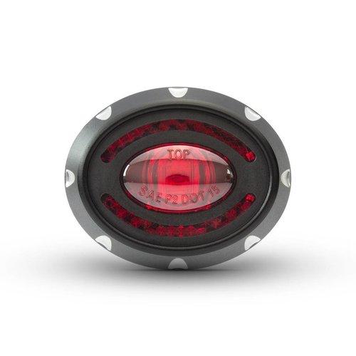 Micro Oval CNC Rem/Achterlicht Zwart