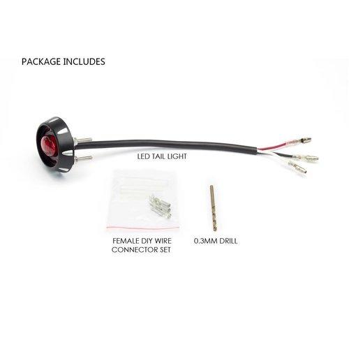 Micro Oval CNC Bremse / Rücklicht Schwarz