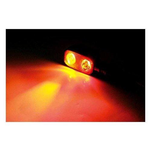 Shin Yo LED achterlicht/knipperlicht MX-1, Zwart Metalen Behuizing