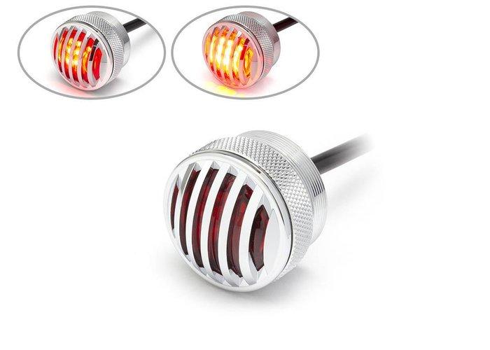1,65-inch Chrome Mini-inbouw CNC Billet Alum Prison Grill LED-stop / achterlicht