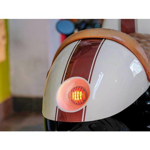 """1,65 """"Chrome Mini Unterputz CNC Billet Alum Prison grill LED Stop / Rücklicht"""