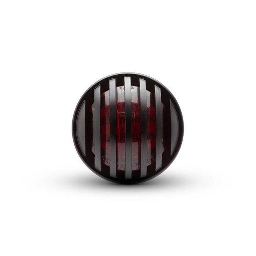 1,65-inch Matzwart Mini-inbouw CNC Billet Alum Prison Grill LED-stop / achterlicht