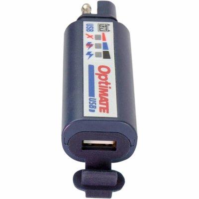 Tecmate Universal USB Ladegerät mit SAE Stecker mit festem SAE und USB Kabel