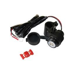 USB Connector, Dubbel, Blauw Verlicht en 5 Volt