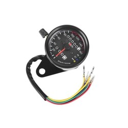 Speedometer with 3 Function Lights Black