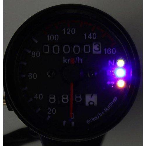 MCU Kilometerteller met 3 extra functies Zwart