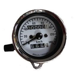 Speedometer 140 km/h + Trip Meter Chrom