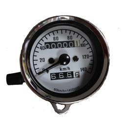 Tachometer 140 km/h 1,4 Chrom + Tageskilometerzähler