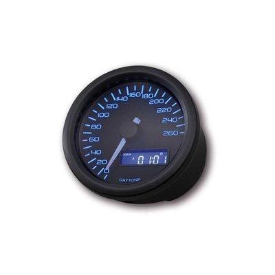 Daytona 60MM Velona Kilometerteller 260 km/h Zwart