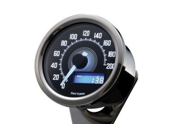 Daytona 60MM Velona Kilometerteller 200 km/h Chrome