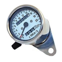 White Speedometer 220 km/h